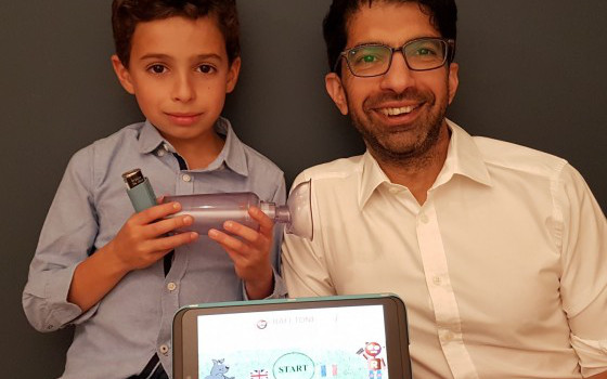 Tariq Aslam, an eye doctor, invented Rafi-tone after his son Rafi suffered with breathing problems