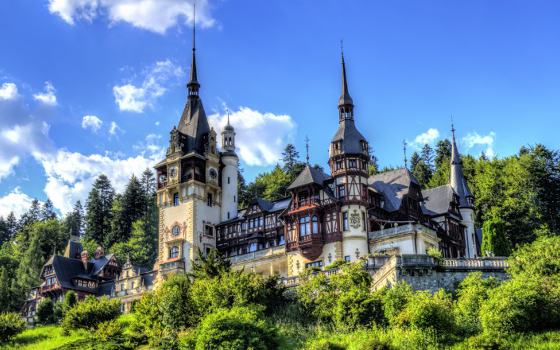 Peleș Castle is a Neo-Renaissance castle in the Carpathian Mountains, near Sinaia, Romania.